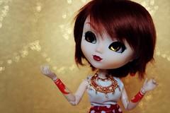Hello 2017 ! (glitteringcastel) Tags: newyear dolls doll crobidoll chinachina gold heart bokeh pullip pullips tattoo tattoos custom custo obitsu eyeship wig