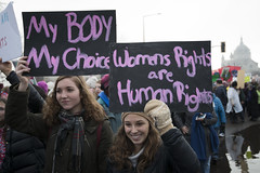 Women's march against Donald Trump (Fibonacci Blue) Tags: stpaul protest march woman women demonstration event dissent feminism outcry feminist activism outrage twincities activist minnesota trump republican sign choice right gop liberal