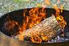 Beautiful Fire! (Vegan Butterfly) Tags: camp camping fire pit logs wood flames orange hot outside outdoor summer