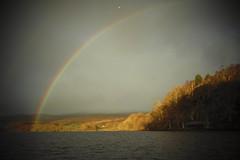 Loch Lomond (Nicolas Valentin) Tags: rainbow scotland loch lomond lochlomond scenery rain cloud clouds