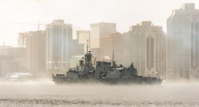 HMCS St John's departrure OP REASSURANCE