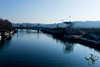 Pont de l'usine (Thierry Poupon) Tags: 4l boulogne ileseguin pont seine ciel contrejour bridge backlight sky boulognebillancourt iledefrance france fr