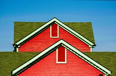 Twin tops (vinnie saxon) Tags: rooftop architecture building shapes triangle urban colors minimilism