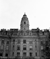 Porto city hall (FMCRphotography) Tags: porto portugal cityhall city blackandwhite arquitecture frames windows