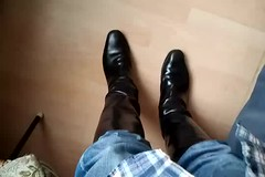 My Father in his Ridding Boots1 (rjc721963) Tags: hansom father blue jeans black leather ridding boots