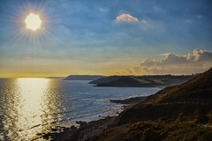 One after the other... (re-edit) (JDWCurtis) Tags: swansea wales southwales mumbles summer gower sea seascape cliffs bay sun sunlight sunny sunstreak water skyblue sky blue bluesky reflection reflections waterfront