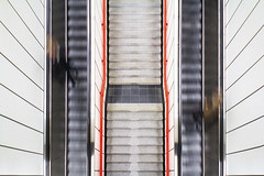 Escalator Symmetry (CoolMcFlash) Tags: movingstaircase escalator highangleview architecture subway station vienna austria symmetry people longexposure exposure stairs lines geometry canon eos 60d sigma 1020mm 35 city geometrie rolltreppe stufen stiegen oben architektur indoors ubahn wien österreich symmetrie symmetrisch personen langzeitbelichtung belichtung linien photography urban stadt fotografie pov blickwinkel perspective perspektive