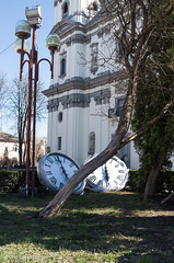 Cathedral Clock (Oleh Zavadsky) Tags: leica church architecture cathedral ukraine x galicia x2 kosciol xseries ternopil україна galicja galizien церква tarnopol архітектура галичина тернопіль катедра leicaimages leicax2 ternopilskaoblast leicax2gallery