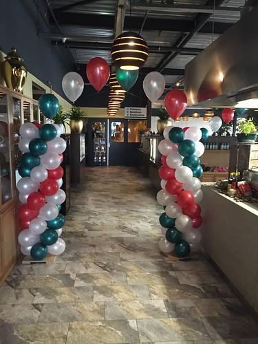 Ballonpilaar Breed met Heliumboog Watertuin Spijkenisse
