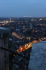 vanop skywalk Sint-Romboutstoren (mechelenblogt_jan) Tags: zonsondergang mechelen skywalk sintromboutstoren ijzerenleen olvoverdedijlekerk buitengewoonmechelen