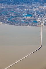 Aerial View of San Mateo Bridge, San Francisco Bay (peace-on-earth.org) Tags: sanfrancisco bridge bay aerial sanmateo fostercity peaceonearthorg