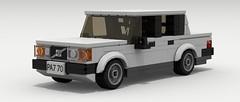 Volvo 240 Sedan (LegoGuyTom) Tags: city classic cars car digital sedan vintage volvo europe european lego sweden pov designer swedish legos download vehicle 1980s luxury 1990s dropbox 240 povray ldd lxf