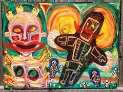 Forced Smile (mondoexpressionism) Tags: painting rawart outsiderart expressionism artbrut naiveart visionaryart weirdart