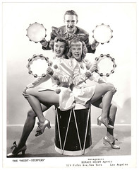 Vintage Publicity Photo : The Heidt Steppers (CHAIN12) Tags: photo blackwhite image scanned bows tamborine danceshoes jnnfrn12808x10heidtsteppers