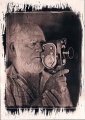 Cameraman II. (Nagy Krisztian) Tags: portrait cyanotype