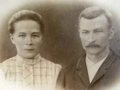 110 Aino ja Antti Jukarainen 1908 (www.ilkkajukarainen.fi) Tags: photo blackwhite grandmother weddingday 1908 granfather antiquephoto mustavalkoinen