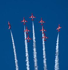 Red Arrows (adam.court89) Tags: nikon hurricane airshow f16 eurofighter spitfire vulcan typhoon osprey hawker avro mig29 supermarine bbmf fightingfalcon fulcrum xh558 nikon70300vr d3300 riat2015