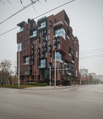 Red Apple (nazarleskiw) Tags: red brick apple architecture modern studio sofia bulgaria housing aedes