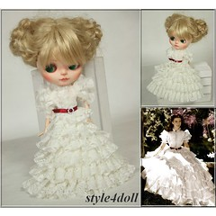 "style4doll Lace Dress - ""Scarlett O'Hara"" for Blythe"