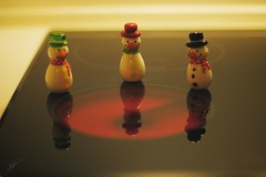 It's chilly! (Jorgepevet) Tags: explored cold winter snowman snow invierno cocina home miniature