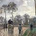 PISSARRO Camille,1870 - Diligence à Louveciennes (Orsay) - Detail 05