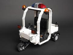 Police Cart from Zootopia (Sheo.) Tags: lego moc technic motorized powerfunctions zootopia zootropolis judyhopps car cart police scooter foitsop blogged ideas legoideas