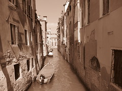 Venice, Italy II (RoccerSoccerDave) Tags: italy venice sepia canon sx220hs street powershot