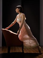 Poised (Bruce M Walker) Tags: vintagelingerie lingerie transparent legs woman hollywoodglamour georgehurrell