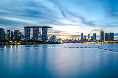 Singapore, Marina Bay East Gardens (oliverweller1) Tags: singapore marinabay marinabaygarden marinabaygardens marinabaysands singaporeflyer skyline leicam leica