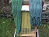 Scarf Assortment (lady-ursula) Tags: scarf handwoven weaving rigidheddle plainweave saori green