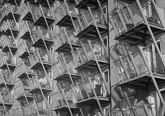 Limehouse, E14 (leavesandpuddles) Tags: london limehouse abstract iteration housing psychogeography monochrome blancetnoir blancoynegro biancoenero blackandwhite bw schwarzundweiss patterning waterside riverside thames thameside dogtooth