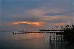 Leekstermeer (TeunisHaveman) Tags: leekstermeer leek lake meer zonsondergang spiegeling reflectie water riet groningslandschap