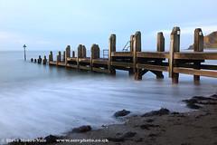 Aberystwyth groin (Steve Moore-Vale) Tags: aberystwyth beach places unitedkingdom bluehour groin jetty longexposure wales
