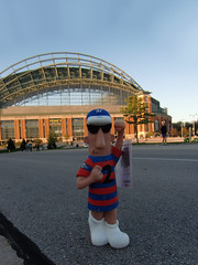 05-09-13 (10) cc (This Guy...) Tags: milwaukee wi wis wisconsin mlbmajor league baseball brewers miller park county stadium 2013 free polis sausage lawn gnome ticket giveaway polish