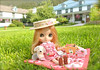 Strawberry Picnic (Big Red Angel) Tags: blythe barbie strawberry rement picnic coca cola doll diorama
