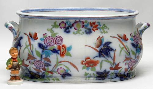 19th c. Gaudy Welsh Porcelain Foot Bath ($275.00)