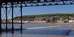 D12738.  Weston-super-Mare in Somerset. (Ron Fisher) Tags: uk greatbritain england sky sun beach pier seaside sand europe pentax unitedkingdom somerset gb westonsupermare westcountry pentaxkx westofengland