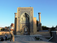 Gur-e Amir Mausoleum, Samarkand, June 2015 (leonyaakov) Tags: samarkand uzbekistan citycenter citytour promenade mosque religion ceramic ceremony minaret muslim museum sunnyday summer unesco узбекистан ташкент ouzbekistan greatphotographers nikonflickraward inspiredbylove heritage worldtrekker