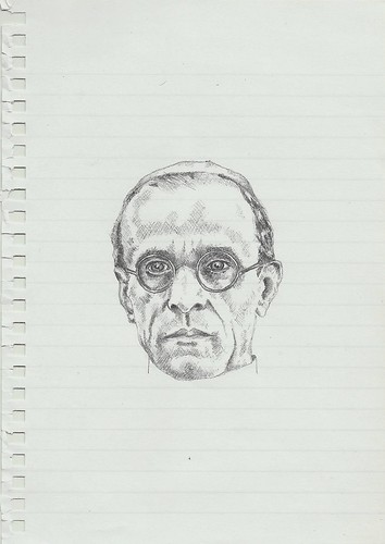 Zavier Ellis 'Mad Pope Drawing # 2', 2014 Pencil on paper 21x14.8cm