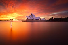 Heavenly Light (Noval N | Photography) Tags: longexposure morning sky cloud architecture sunrise australia landmark icon operahouse