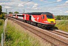 VTEC Class 43 43312 & 43311 (Barry Duffin) Tags: uk england london clouds train photography nikon diesel rail railway bluesky trains virgin aberdeen locomotive intercity 125 retford hst vtec ecml class43 43312 43311 d3000 1e15 virgineastcoast