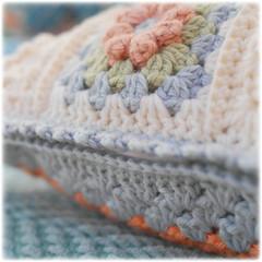 (Mary Jane's TEAROOM) Tags: pink blue white green yellow crochet peach cushion maryjanestearoom naturalyarns