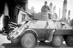 Dutch Pantserwagen M39 Armoured Car.<br />Although most of the 12 (plus one prototype) M39s were uncompleted by the time the Germans invaded the Netherlands, a couple of them did see combat in ad hoc units.<br /><br /><br />At least 10 of the surviving vehicles were then commandeered by the Germans and used mostly for occupation duties, with some seeing combat on the Eastern Front.