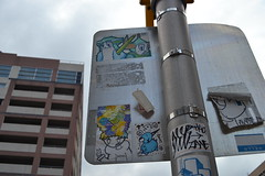 Stickers in Philly (MaxTheMightyy) Tags: streetart art philadelphia graffiti sticker stickerart stickers postalsticker vandal vandalism philly slap usps 228 vandals graffitiart slaps postallabel antboy