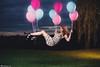 Goodbye Gravity VII (Rick Nunn) Tags: portrait sky tree fall girl grass hair outdoor magic gravity sparrow trick float spadge defy dressskulls strobistballoons