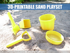 3D-printable sand play set - by Creative-Tools.com v1 (Creative Tools) Tags: park sea summer vacation holiday beach kids toy toys bucket play rake mold shovel sandcastle sandbox sandsculpture scoop playset pail strainer sieve sifter grovel