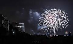 Bal Harbour Beach Fireworks (lekanne2020) Tags: ocean city longexposure sea beach night cityscape nightscape fireworks 4thofjuly