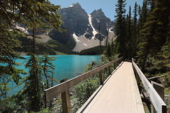 Moraine Lake Alberta Canada (davebloggs007) Tags: bridge lake canada day 4th july alberta independence moraine 2015