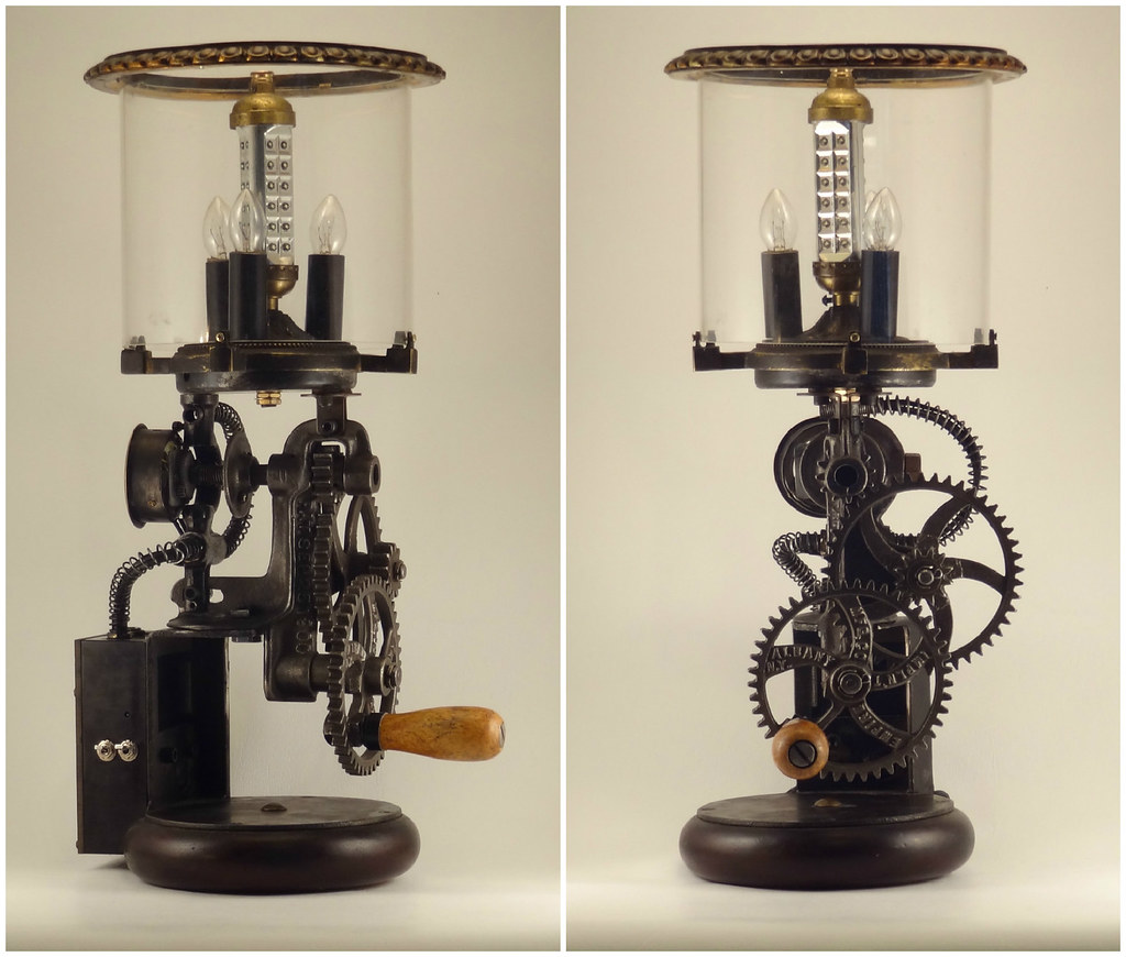 The Worlds Best Photos Of Clock And Recycled Flickr Hive Mind Circuit Board Geekery Vintage Lantern By Debbyaremdesigns Dual Power Lamp Made Out 1900s Grinder Irecyclart Tags