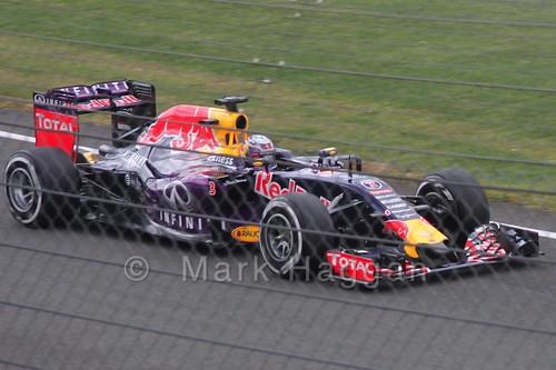 Daniel Ricciardo in Free Practice 3 for the 2015 British Grand Prix at Silverstone